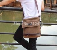 Men's shoulder bag messenger bag canvas bag free shipping