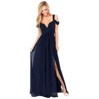 Europe elegant Greek wind long and pleated chiffon dress luxury deep V cocktail dress