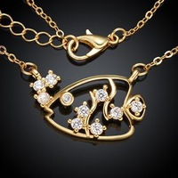 KZCN035-ABC // Wholesale hot sale Factory Price Necklace , beautiful fashion jewelry Chain gold plated Necklace