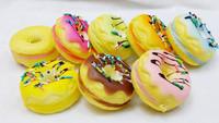 20pcs/lots 5cm muti colors donut with cream squishyy