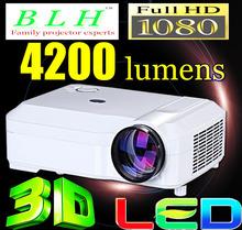 4200Lumens 1280x800 Home Theater WATCO Cinema 1080P HD 3D Video HDMI USB TV LCD LED BLH