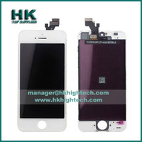 20pcs/lot high quality warranty digitizer screen assembly for iPhone 5 lcd replacement no dead pixel,DHL free shipping