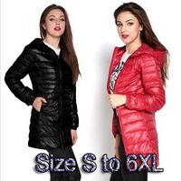 high quality winter jacket women Parka size 6xl women's lightweight jackets ladies hooded ultra light white duck down jacket