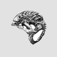 Hot-selling accessories male alloy vintage ring tyranids ring shaped punk ring