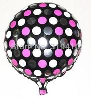18 inch foil balloons metallic balloons dot pattern balloon black white pink 50pcs