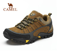 Camel outdoor climbing shoes 2014 new men breathable suede lace-up hiking shoes authentic
