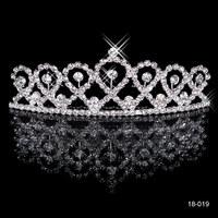 2015 Hot Rhinestone Hair Jewelry Wedding Silver Plated Crown Tiara Cherish Tiaras De Novia  Cheap Hair Combs 18-019