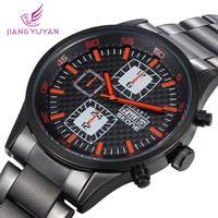 Skone Automatic Self-Wind Military Men Wristwatches Alloy Analog Week Calendar Life Waterproof Casual Watches