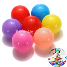 200 pçs/lote colorido durável Fun bola de plástico macio piscina de água do oceano bola crianças brinquedos Swim Pit grátis frete(China (Mainland))
