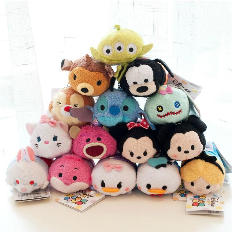 1pcs Plush Toys TSUM TSUMS Mickey Minnie Kawaii Dolls Anime Mobile Screen Cleaner Key Chain Bag Hanger for Mobile Phone Ipad(China (Mainland))