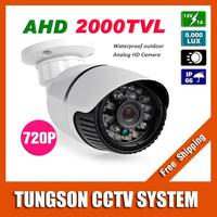 NEW Product 1MP 720P CCTV AHD Camera 2000TVL Outdoor Waterproof Bullet Night Vision IR Security Video Surveillance Free Shipping