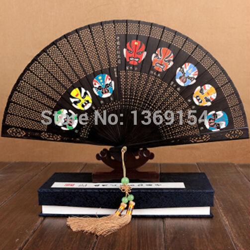 China traditional crafts folding fan / wood fan--6'-China Hangzhou sandalwood fan / hollow / ladies used / business - gift fan(China (Mainland))