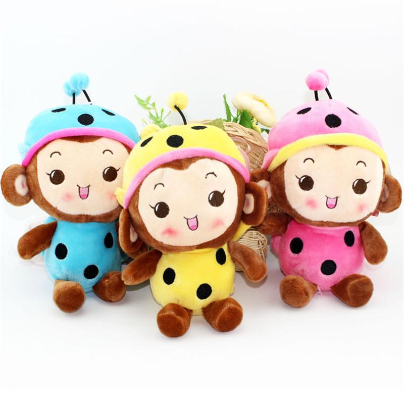 Drop Shipping Lovely Cartoon Angela Plush Toys Grasp Machine Doll Stuffed Animal Bee Monkey Dolls For Kids Birthday Gifts(China (Mainland))