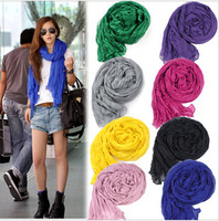 autumn Winter Scarves American and Europe Hottest Women Fashion Solid Cotton Voile Warm Soft Scarf Shawl Cape super quality
