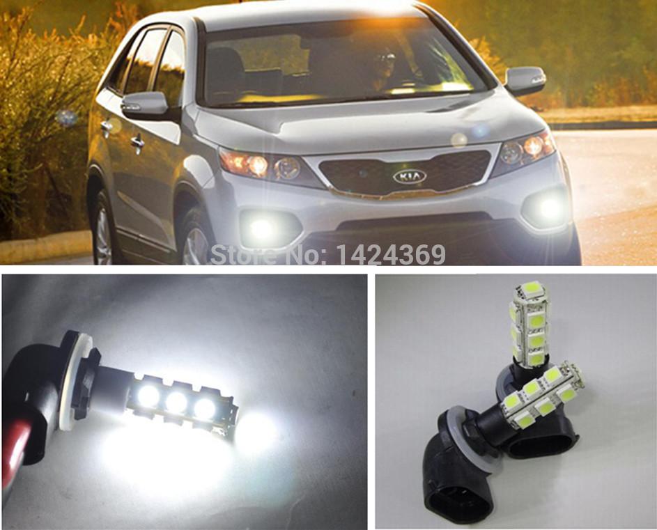 2x for Hyundai Kia Mercury / Azera HG 881 H27W/2 LED SMD Fog Light Running Bulb(China (Mainland))
