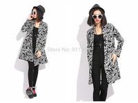Stylish Floral Printing Turn-down Collar Women Slim Fit Overcoat Medium Styls Winter Coat Jackets Women Free Size FS3101