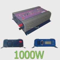 1000W Grid tie inverter with LCD display,22-60V/45-90V DC,120/230V AC mppt function pure sine wave solar power inverter