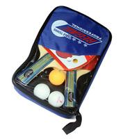 Training Table Tennis Racket 3 Stars Table Tennis Racket 1 Set Including 1 Bag+2 Racket+3 Balls Horizontal Grip PingPong Racket