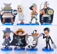 free shipping anime one piece action figure model toys 37 generation 8cm 8pcs/lot PVC dolls  Going Merry ship