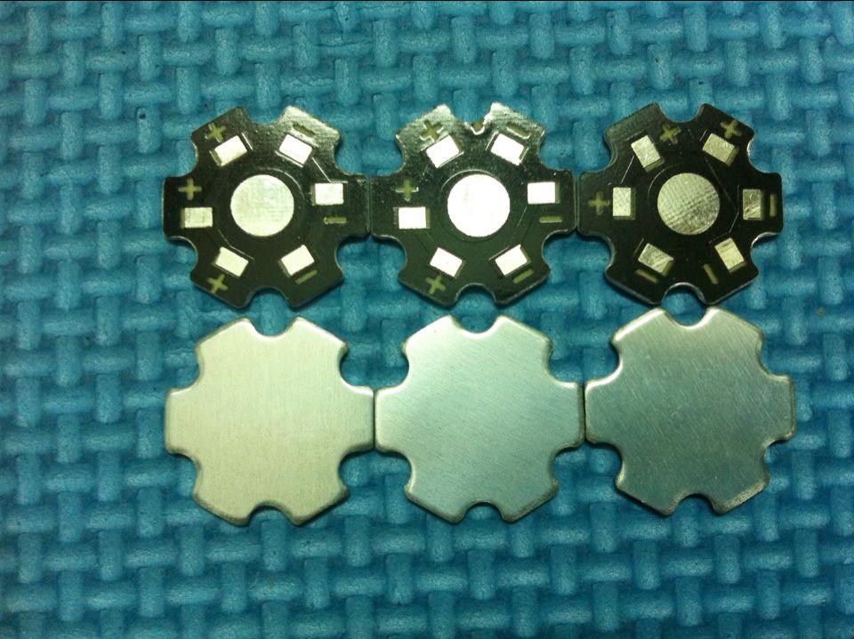 100pcs/lot LED heat sink LED aluminium base plate 1/3/5W high power LED beads radiator Use for 1/3/5W LED chip beads(China (Mainland))