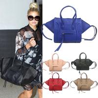 Famous Designer Women Handbag 2014 Hot Sale Fashion Classic Shoulder Bag PU Leather Smiley Tote Bag Trapeze Handbag