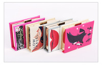 Women Magazine Clutch Evening Bag,Magazine book Clutch Bag,free shipping,multi colors