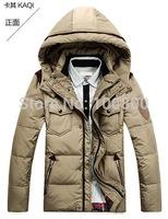 Free shipping men down jackets , Stoneed Men Down Coat Winter Jacket Outwear Parka  H001
