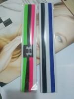 100Pcs/Lot Fashion Brand Polyester Headbands Sport Baseball Basketball Running Headbands Free Shipping