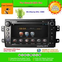 Pure Android 4.2.2  8''Car DVD Player for SUZUKI SX4 2006-2012, AutoRadio,GPS,Navi,Multimedia,Radio,Ipod,Free Cam,Free shipping