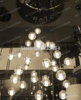 1/5/7/12/16/25/30/36/38/40-Lights Crystal Ball Pendant Lamp Meteor Rain Ceiling Light Meteoric Shower Stair Chandelier Dimmable