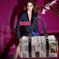 Promotion Leather Messenger Casual Crossbody Bags Women Handbag Shoulder bag Printed Big Size Yellow + Black Free Shipping B16