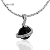 New 18K Platinum Plated Black Pendant Necklace Pendants New Fashion Jewelry For Women Free Shipping