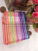 200pcs Clear Hard TPU Gel PC Hybrid Bumper Phone Cases Capas Para for iPhone 4S 5S 5C 6 Plus for Samsung Galaxy grand duos i9082