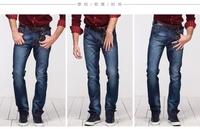 HOT sale Free Shipping Autumn men's casual jeans men's cotton jeans slim jeans full length men straight jeans