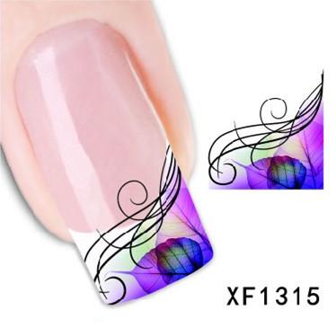 Наклейки для ногтей Larry's Store 1sheet ,  DIY XF1315 кисточка для ногтей yifu store 1 2ways diy nao10