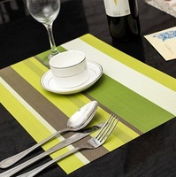 Wholesale!High quality pvc knit kitchen table mat,dinnerware heat pad for kitchen use,lovely tea table pads