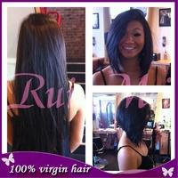 Fashion brazilian virgin short human hair wigs  full lace wig /human hair lace front wig For Black Women