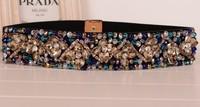 2014 New Crystal Palace Luxury Fur Coat Wide Belt Female Korean Elastic Cintos Femininos Bohemian Brand Belts For Women