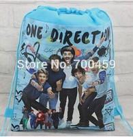 Wholesale Cartoon children's school bag Drawstring Backpack Bag Kids shopping bags 180pcs One Direction 1D lot free shipping