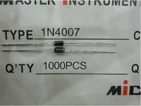 1000PCS 1N4007 4007 1A 1000V DO-41 Rectifier Diode Free Shipping