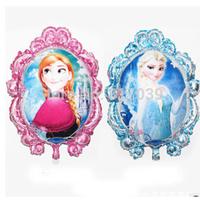 Free shipping 1PCS  Frozen Purple Mirror Balloon Decoration Birthday Party Supply