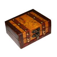 Free Shipping Tattoo Gun Machine Antique Wooden Wood Box Case Storage