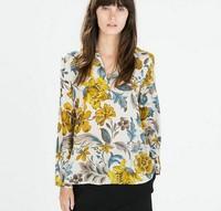 Europe Spring 2015 women new chiffon shirt women's new long-sleeved shirt