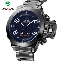 Newest Luxury 3ATM Stainless Steel Watch Brand Weide Watches Quartz Analog Military LED Japan Movement Wholesale