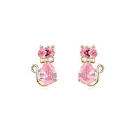 new brand design fashion woman Bestsellers 18K gold earrings CZ earrings OL elegant cat 98377