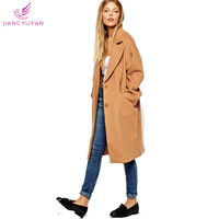Plus Size Wool Blends Winter Coats Women Clothing New Fashion Overcoat Single Breasted Loose Long Casacos Femininos Dropshipping