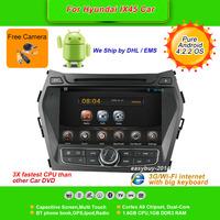 Pure Android 4.2.2 OS 8''Car DVD Player for 2013 Hyundai IX45, AutoRadio,GPS,Navi,Multimedia,Radio,Ipod,Free Cam,Free shipping