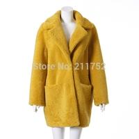 New Arrival 100% Natural Merino Sheep Fur Coat Real Australian Wool Greatcoat Long Winter Overcoat