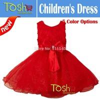 2014 New Girl Christmas Dress Evening Party Dress Baby Girl Princess Dress Children Clothing Christmas Dress Free Shipping