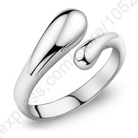 Top Quality Fashion Woman Jewelry Genuine 925 Sterling Silver Smooth Figure Rings Adjustable Factory Price Big Promotion!!